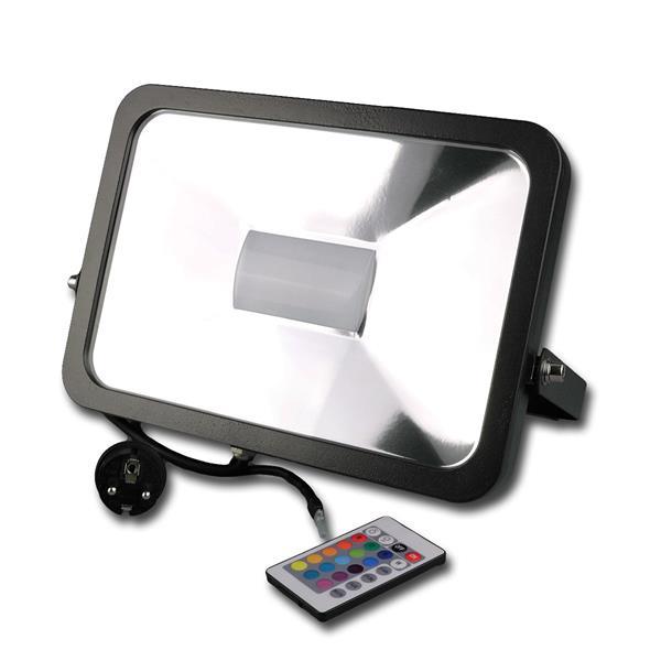 IP44 Fluter RGB in einem stossfestem schwarzen Aluminium-Gehäuse