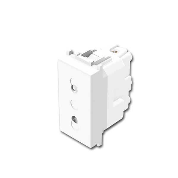 MODUL-PLUS Euro Steckdose 1M weiß, 250V~/10A
