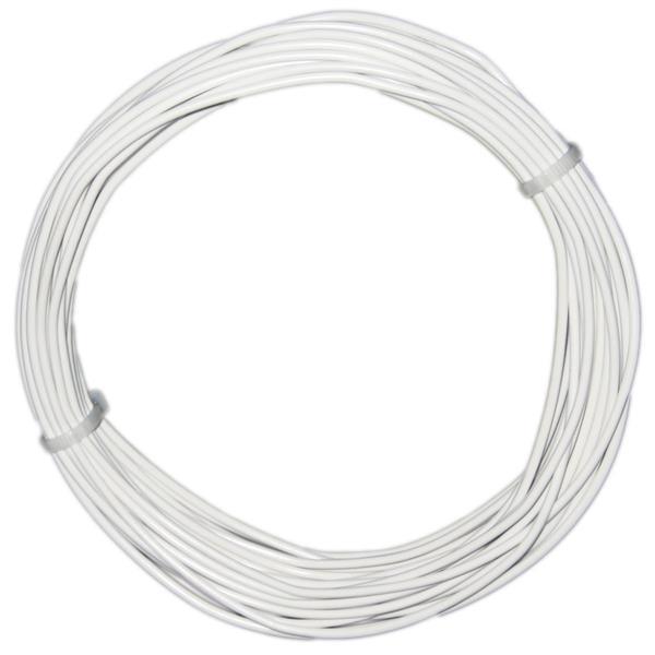 10m Litze flexibel weiß 0,5mm² - Ø2mm