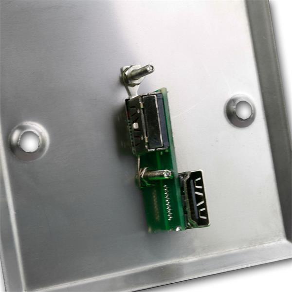 HDMI-Blende Edelstahl Ansicht von hinten