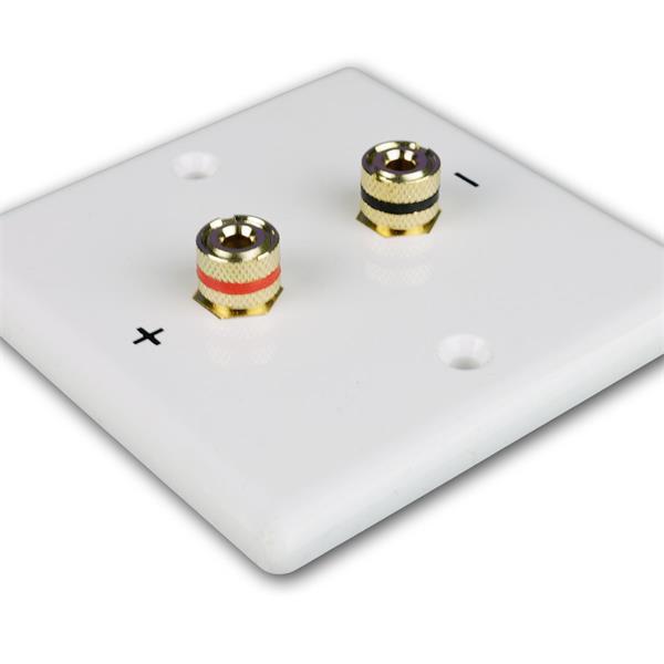 Lautsprecher-Blende für Unterputzdose mit vergoldeten Anschlussbuchsen