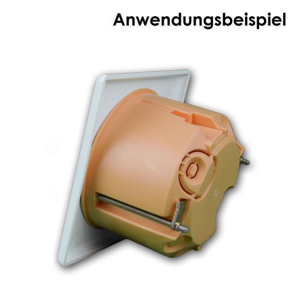 Lautsprecherdose auf eine Standardunterputzdose befestigt