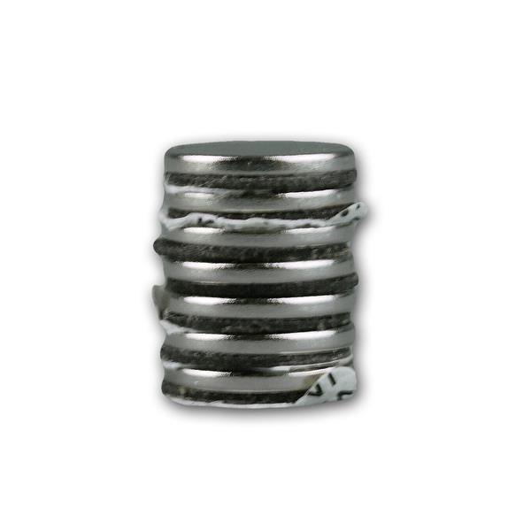 Supermagnet-Set umfasst 8 kleine Magnete mit Klebestreifen