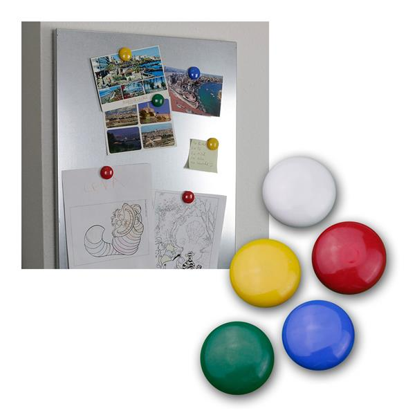 Magnet-Set 10 Stück 30 mm, Rundmagnet, Magnete
