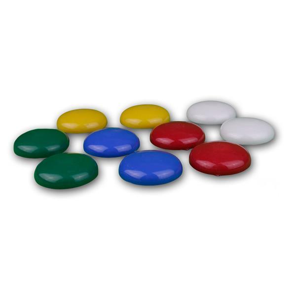 Supermagnet-Set 10 bunten Magneten in grün, blau, rot, gelb und weiß