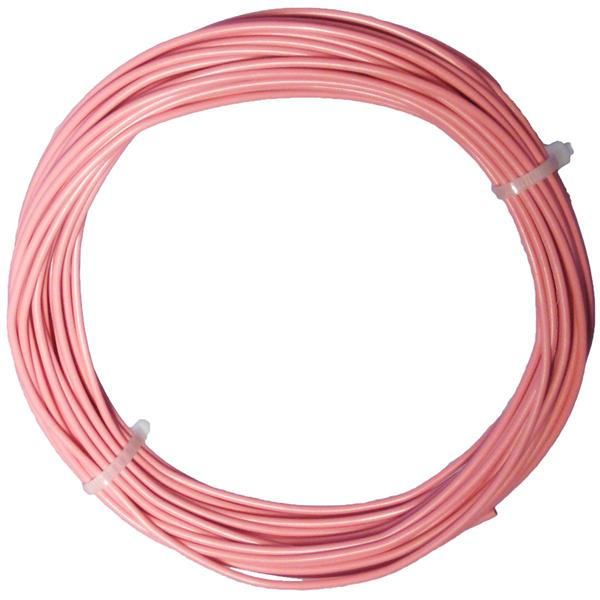 10m Litze flexibel rosa 0,5mm² - Ø2mm