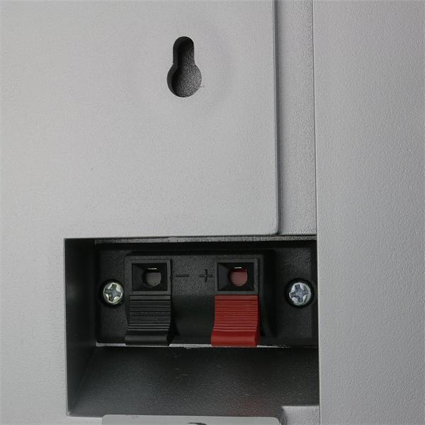 Flat-Lautsprecher silber mit 40Watt und Klemm-Fix-Anschluss