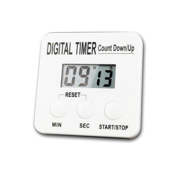 Digital Timer / Count Down Zähler weiß LCD-Anzeige