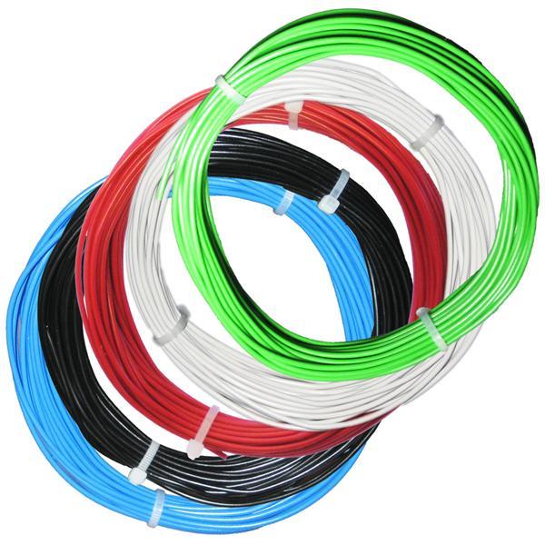50m Litze flexibel - SET 5 Farben - 2mm/0,5mm²