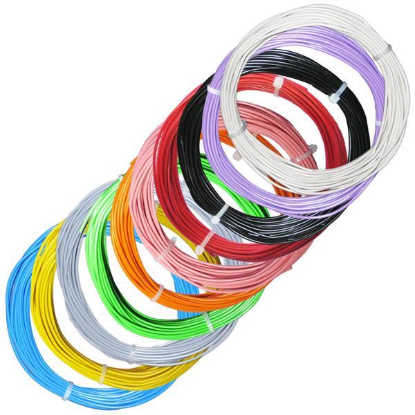 100m Litze flexibel - SET 10 Farben - 2mm/0,5mm²