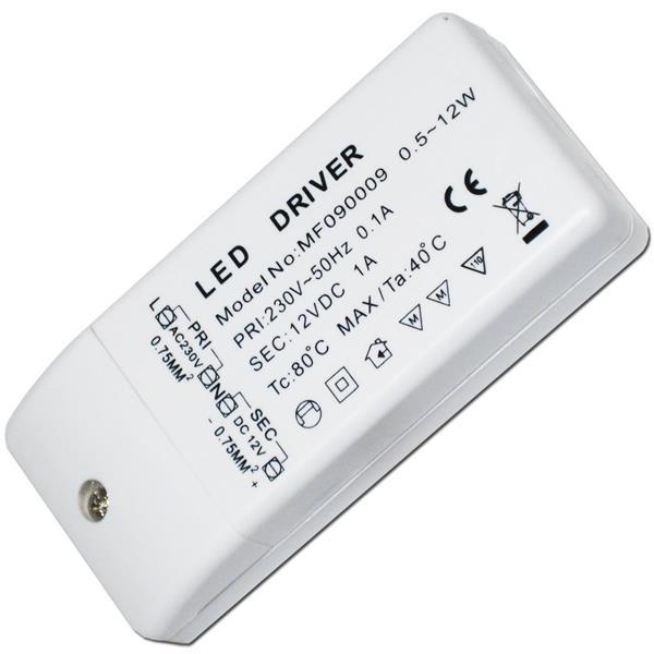 12W LED Transformator, max. 1A 12V DC, Trafo / EVG