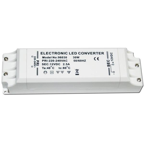 30W LED Transformator, max. 2,5A 12V DC, Trafo