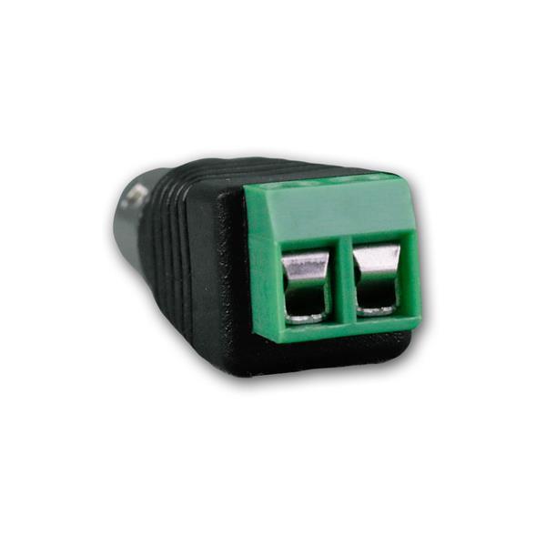 Kabelanschluss im 2 Pin-Terminalblock des Adapters