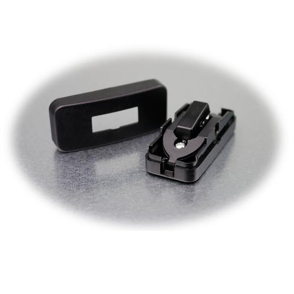 1-poliger Schnurschalter aus Kunststoff mit eckiger Wippe
