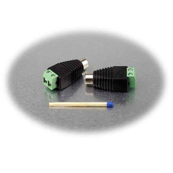 Adapter für eine sichere Verbindung von Kabel auf Cinch
