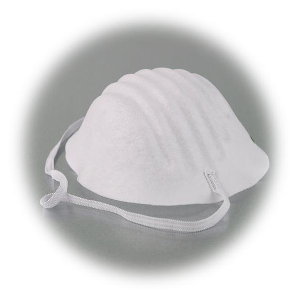 Atemmaske hat in Universal-Größe mit anatomischer Paßform