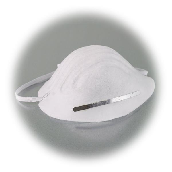der Mundschutz ist mit einer Gummiband-Halterung ausgestattet