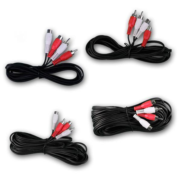 Cinch Kabel Verlängerung 1,5m/2,5m/5m/10m