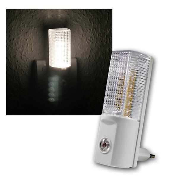 LED Nachtlicht mit Tag/Nacht-Sensor 1W warmweiß