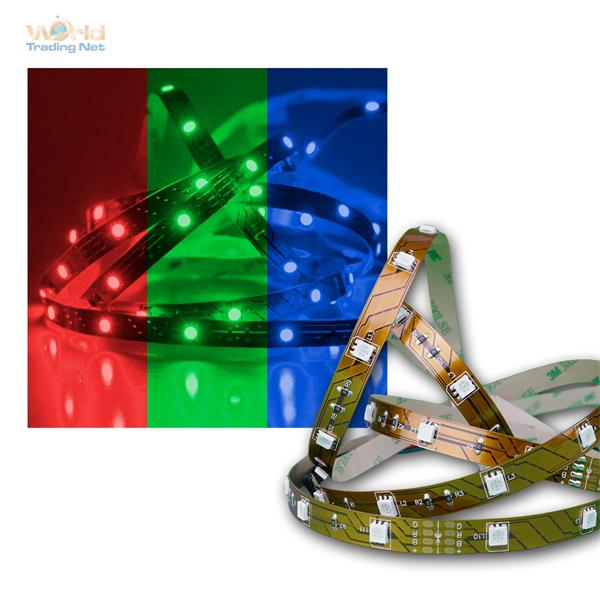 5m SMD RGB Stripe 24V Superbright, PCB-w, 30 LED/m
