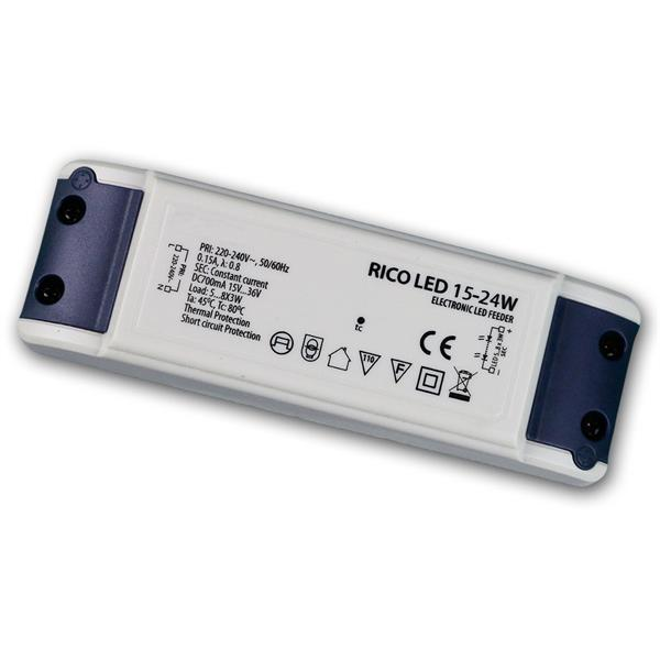 LED Trafo KSQ 15-36V 700mA-konstant 15-24W