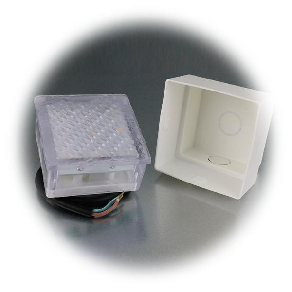 LED Einbaustrahler aus Kunststoff belastbar bis max. 2000kg bei max. 25km/h