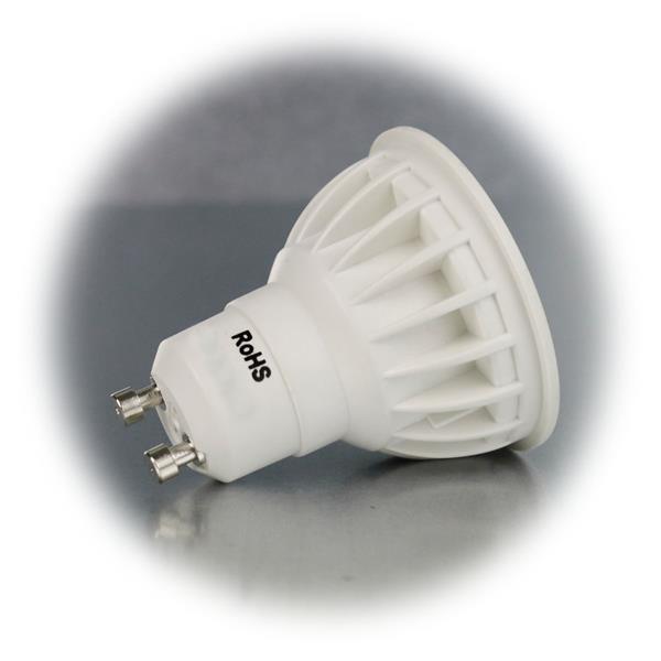 GU10 LED Energiesparlampe für 230V Sockel GU10 und nur 7W Verbrauch