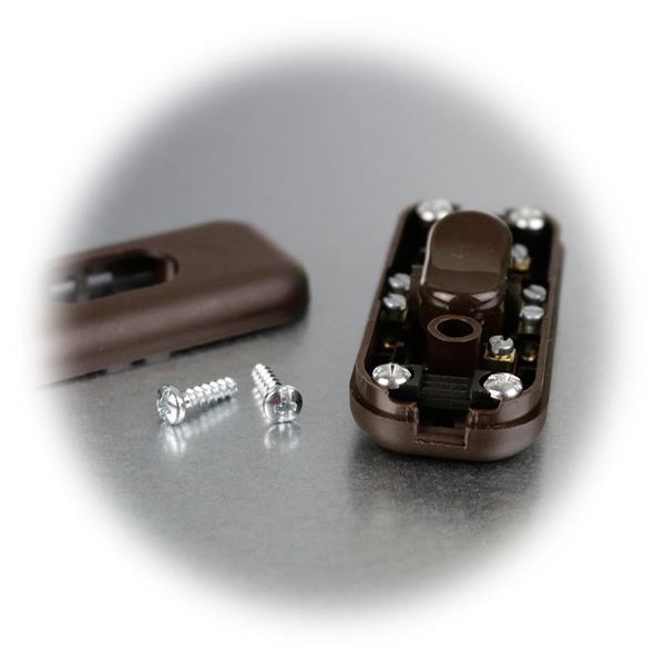 Zwischenschalter für Flachleitung 2x0,75mm² und Rundleitung 3x0,75mm²