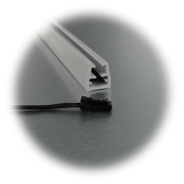 Glaskantenbeleuchtung für 12V DC mit Mini-Steckanschluss