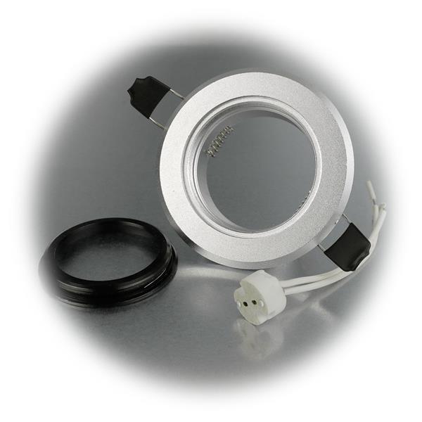 Einbaurahmen bicolor für MR16 Leuchtmittel, nicht schwenkbar