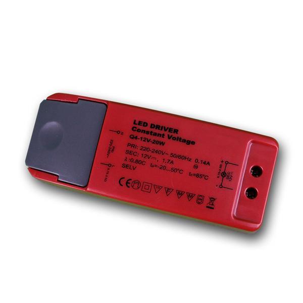 LED Transformator 12V DC, 1,7A, 20W, EVG Trafo
