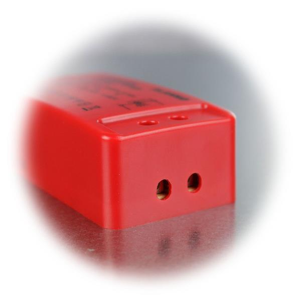 Stromquelle mit Schutzklasse IP20, nur im Innenbereich einsetzbar