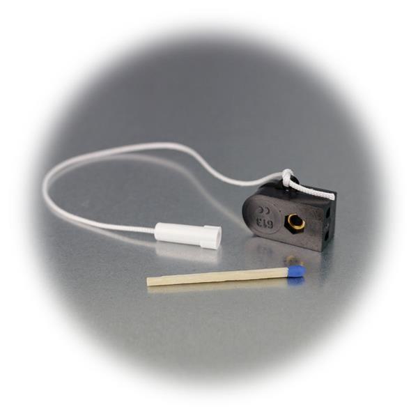 kleiner Schnurschalter mit Zugschnur und Kegel