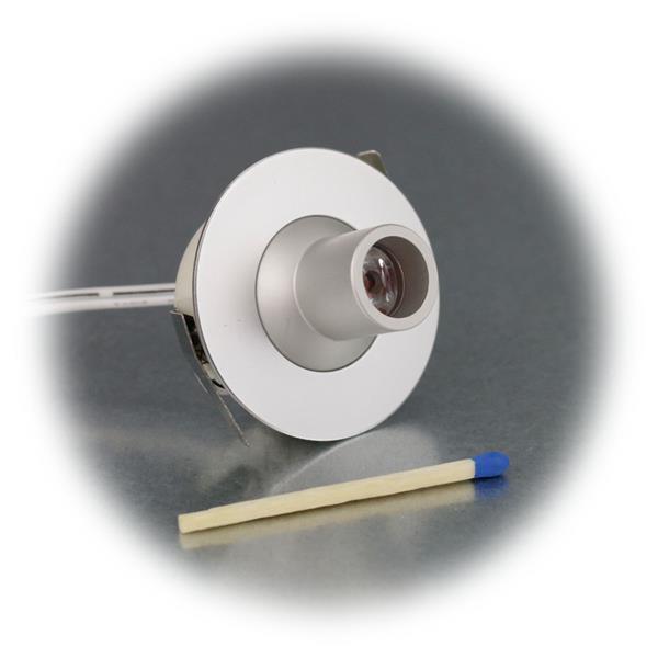 LED Einbaulicht rund in Edelstahl-Optik für punktuelles Akzentlicht
