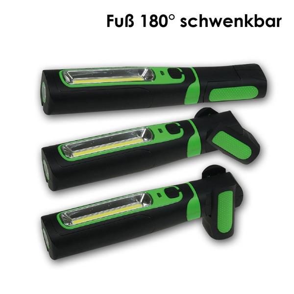 LED Handleuchte mit neigbaren Fuß und praktischen Magnethaltern