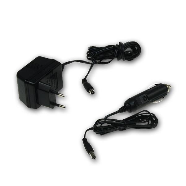 LED Lampe mit Schutzklasse IP44 und 230V-Netzteil sowie 12V Ladegerät