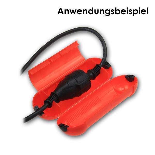 einfacher Schutz von Kabelsteckverbindungen vor Spritzwasser und Beschädigungen
