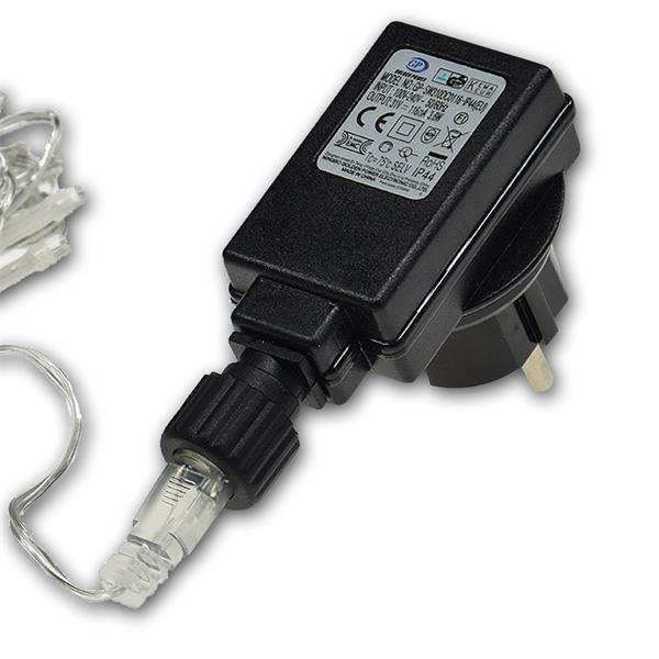 direkter Anschluss an 230V mittels Steckernetzteil 31V DC/116mA