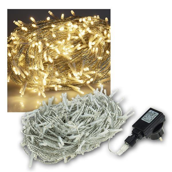 Lichterkette Außen, 400 LED warmweiß, 230V, IP44