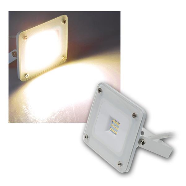 LED Fluter Glasfront weiß, 10W warmweiß 700lm IP44