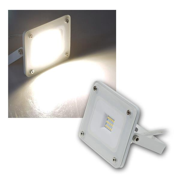LED Fluter Glasfront weiß, 10W neutral 750lm, IP44