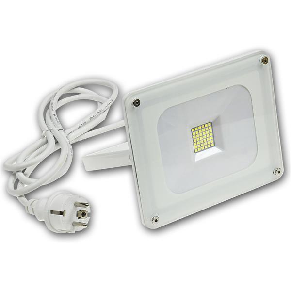 LED Strahler mit hochwertigem Wandhalter aus Metall und stossfestem Aluminium-Gehäuse