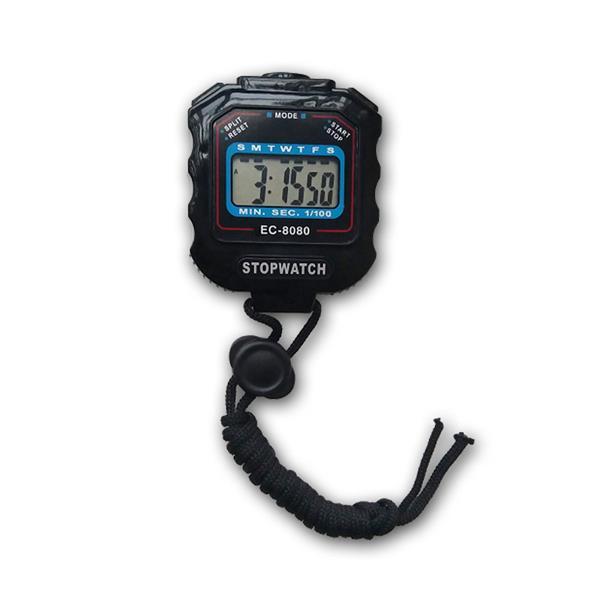 Stoppuhr Sport Pro, 1/100 Sek, 85x60x20mm, schwarz