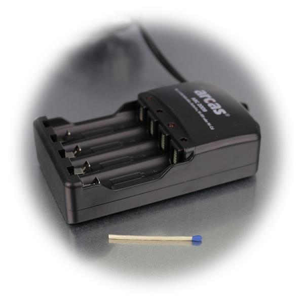 Einsatz des Tischladegerätes ist nahezu weltweit möglich durch Einstellung von 100-240 Volt
