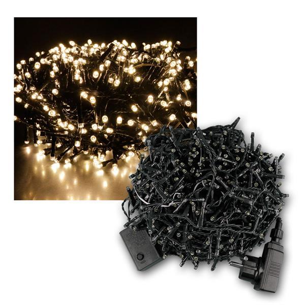 Außenlichterkette Mini-Cluster 1000 LED warmweiß