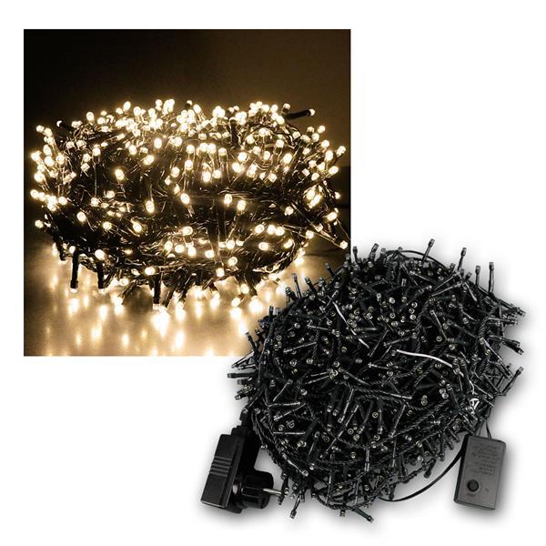 Außenlichterkette Mini-Cluster 1500 LED warmweiß