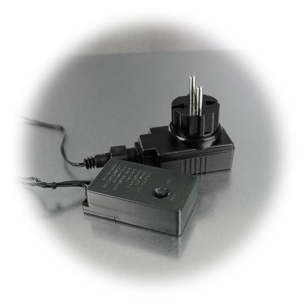 Lichterkette für 230V und mit Steuerbox mit 8 Programmen
