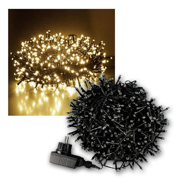 lichterkette 1000 micro led ip44 f r au en innen. Black Bedroom Furniture Sets. Home Design Ideas