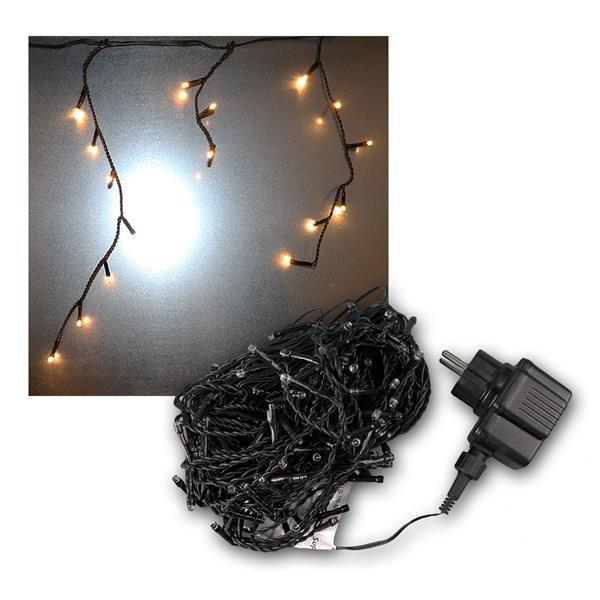 Eisregen Lichterkette 180 LEDs warmweiß, IP44