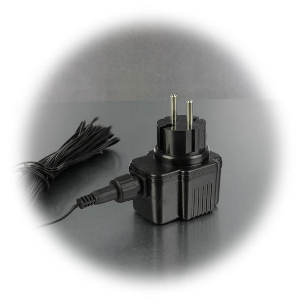 LED Eisregen Lichterkette für direkten Anschluss an 230V